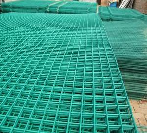 green coated welded wire mesh panel