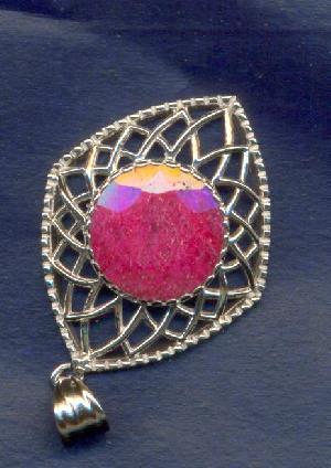 handmade gem stone studded sterling silver jewelry