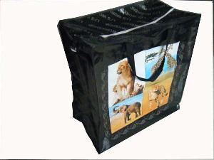 afric animal handled pp shopping bag