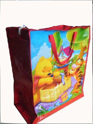 bear tiger colored recycled shopping bag