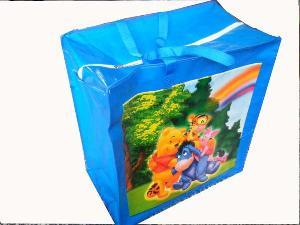 bear tree pp woven recycled handbag