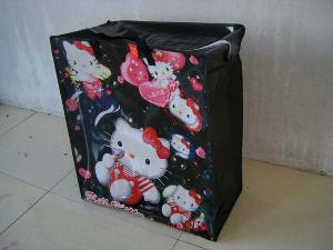 hello kitty colored woven shopping bag