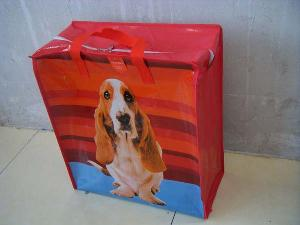 ear dog colored pp woven shopping bag