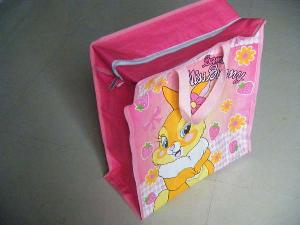 pink rabbit miss bonny strawberry recycled plastic bag
