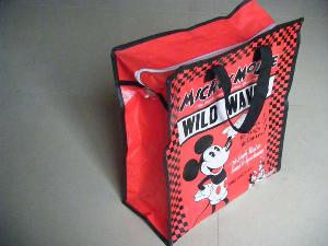 mickey woven shopping bag