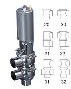 pneumatic divert valve sanitary cut valves seat