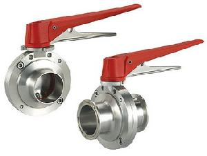 sanitary stainles steel butterfly valve weld clamp