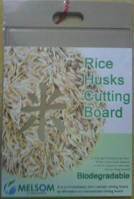 organic fiber rice husk cutting board