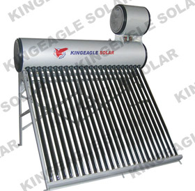 evacuated solar water heater station