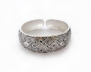 miao silver knot bracelet