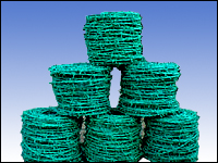 barbed wire plastic coated