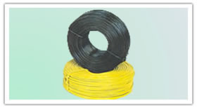 rebar tie wire green blue plastic pvc coated