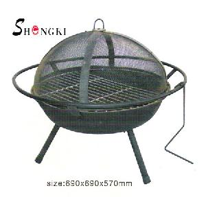cast iron bbq fire pit