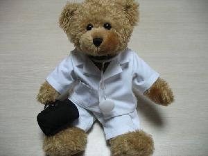 stuffed plush toy teddy bear doctor accessory