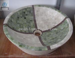 mosaic marble vessel sinks basin bowl home hotel school spa bathroom