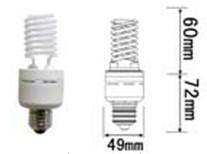 base e26 screw 15watt 2700k dimmable ccfl light warm 120vac