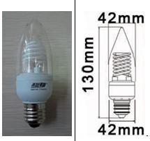 base e26 screw candle 9watt 2700k dimmable warm cold cathode fluorescent