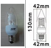 dimmable ccfl candelabra base candle 5 watt 2700k