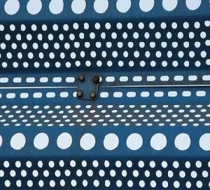 perforated fence coal factory