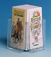 acrylic spinning brochure holder