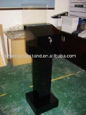 floor standing acrylic donation box