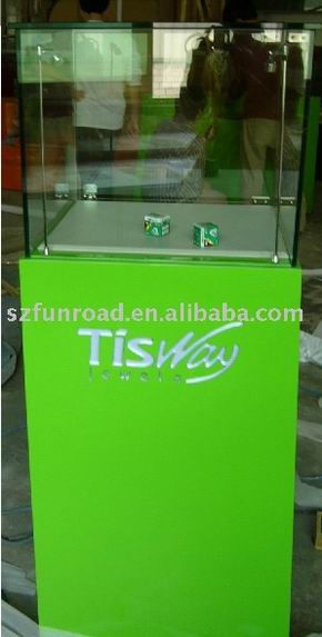 Baking Varnish And Tempered Glass Display Case Showcase For Jewelry In Showroom