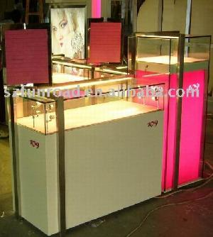 manufacture glass display case showcase cabinet fashion jewellery trade show