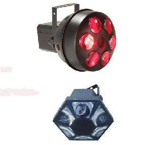 six gem led dmx disco light
