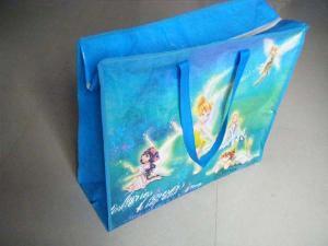 angell blue pp folded shopping bag