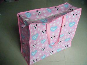 cheer up pink reusable woven bag