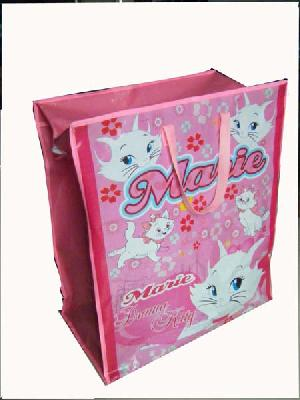 marie cat pink recycled woven bag
