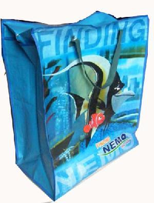 nemo fish ocean recycled pp woven bag zipper