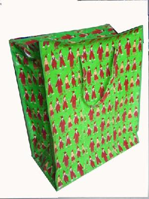 boy green colored recycled shopping bag