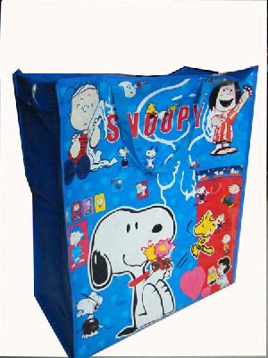 snopy child colored fabric bag
