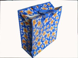 folower bule recycled shopping bag