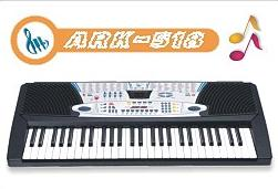 digital electronic organ ark 518 54 key