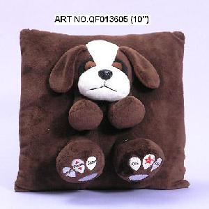 plush electronic toys qf013605 dog cushion radio
