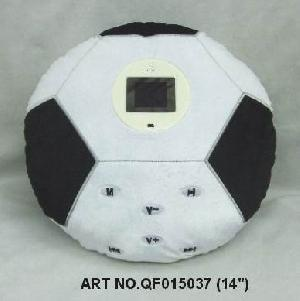 plush electronic toys qf015037 football mp4 photo viewer