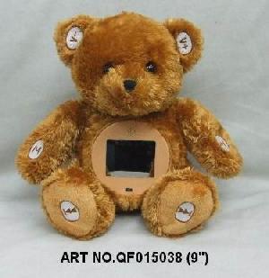 plush electronic toys qf015038 bear mp4 photo viewer