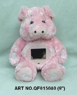 plush electronic toys qf015040 pig mp4 photo viewer