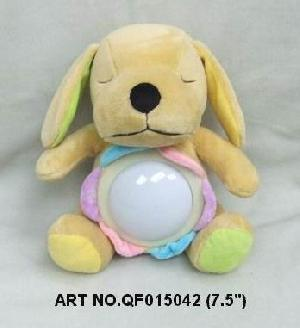 plush electronic toys qf015042 dog animal night lamp