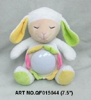 plush electronic toys qf015044 sheep night lamp