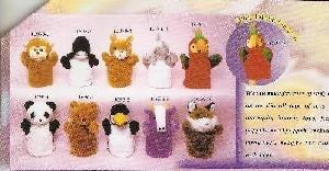 stuff toys 11696 10 animals hand puppet