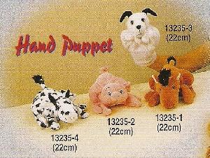 stuff toys 13235 four animals hand puppet horse pig dog cow