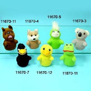 stuff toys animal finger puppets
