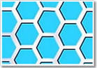 hexagonal hole perforated metal mesh stainless steel plate