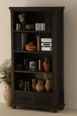 sheesham wood bookcaase living room furniture manufacturer exporter wholesaler