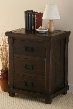 solid hardwood bedside table cabinet indian furniture