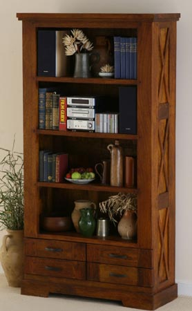 wooden bookcase manufacturer exporter wholesaler indian solid hardwood furniture