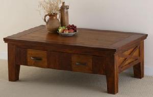 wooden coffee table drawer indian furniture manufacturer exporter wholesaler suppler